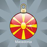 macedonia flag in christmas bulb shape