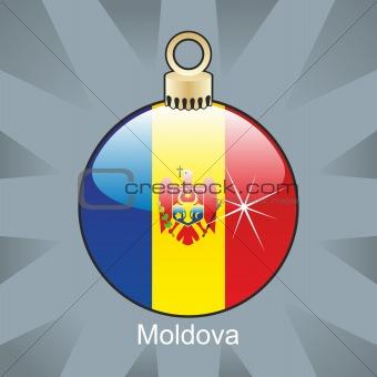 moldova flag in christmas bulb shape