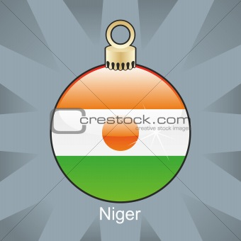 niger flag in christmas bulb shape