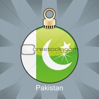 pakistan flag in christmas bulb shape