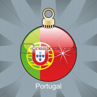 portugal flag in christmas bulb shape