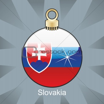 slovakia flag in christmas bulb shape