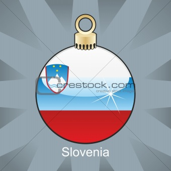 slovenia flag in christmas bulb shape