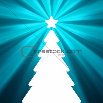 Christmas card - christmas tree. EPS 8