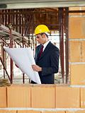 architect in construction site