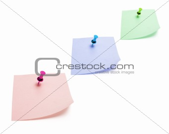 Post It Notes with Pushpins