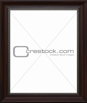 old style photo frame with silver ornament