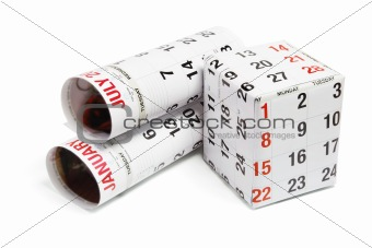 Calendar in Rolls and Box
