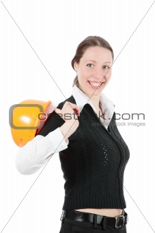 Business Woman Ordering Employees