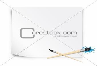 paper and brush