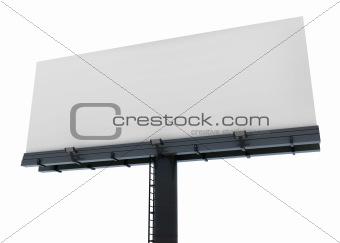 Blank isolated billboard