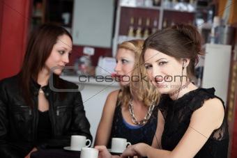 Girl Wearing an Earphone