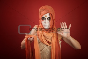 Woman on a Halloween Costume