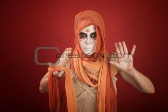 Woman on a Halloween Costume