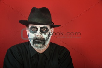 Man in scary makeup