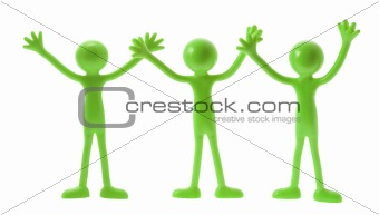 Green Rubber Figures
