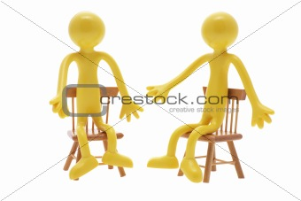 Sitting Miniature Figures