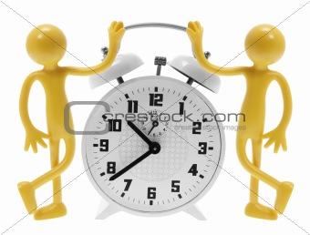 Alarm Clock and Miniature Figures