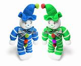 Woollen Toy Clowns
