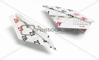 Calendar Paper Planes
