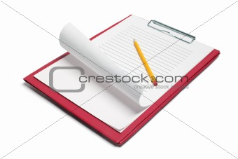 Clipboard with Papers and Pencil