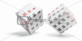 Boxes wrapped with Calendar Pages