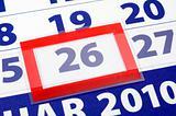 26 calendar day