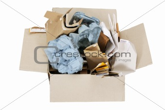 Box of Paper Rubbish for Recycle