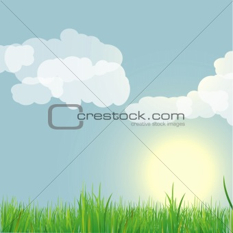 Abstract nature background. vector illustration