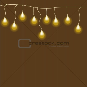 Abstract background with Bulb. Vector illustration