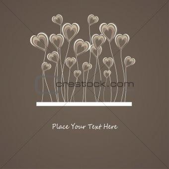 Abstract heart. vector illustration