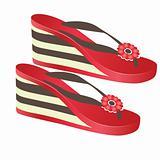 Beach footwear. Vector illustration