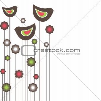 Bbirds. vector illustration