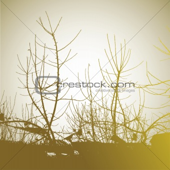 Abstract background with tree. vector illustration