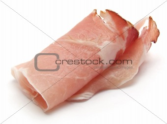 Bacon Meat isolated over white