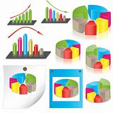 business statistics. vector illustration