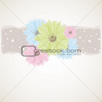 Colourful Spring flowers . Vector illustration