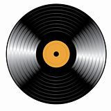Retro vinyl Record. Vector illustration