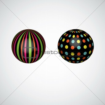 Abstract spheres. vector illustration