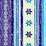 Grunge striped floral pattern. Seamless