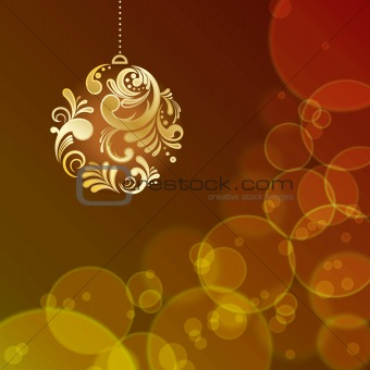 Abstract light Christmas background