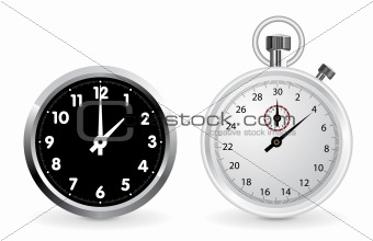 Clock and stopwatch