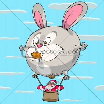 Hare balloon of Santa Claus