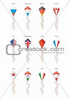 flags, kite flying