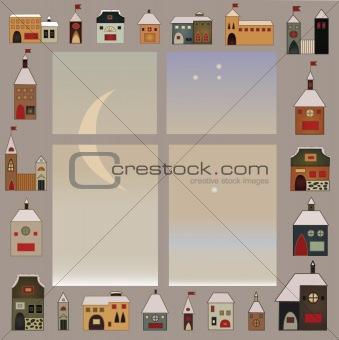 folk christmas window