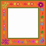 orange vector flowers frame