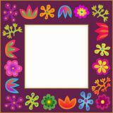 violet vector flowers frame