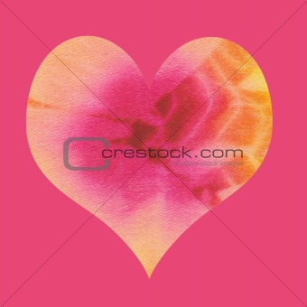 batik valentin heart on pink background
