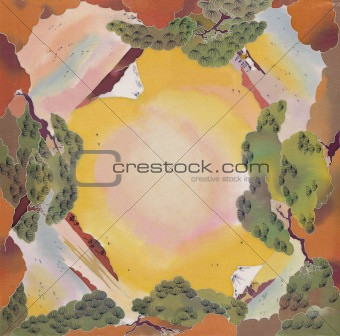 batik landscape background