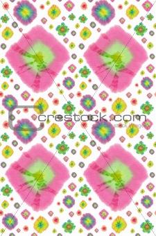 batik circles pattern background
